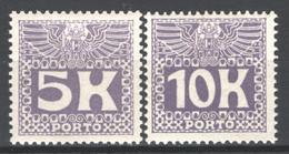 Austria 1911 Segnatasse Unif.44/45 **/MNH VF - Cert.Enzo Diena - Postage Due