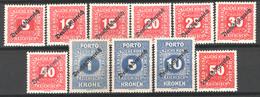 Austria 1919 Unif.S64/74 **/MNH VF/F - Postage Due