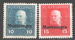 Austria 1918 Occ.Montenegro Unif.3/4 */MH VF/F - Nuevos