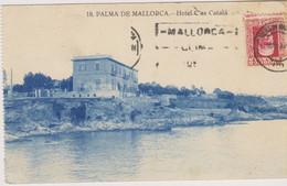 ESPAGNE - PALMA DE MALLORCA - HOTEL C'AS CATALA - Carte Légèrement Bleutée - Carte Provenant D'un Carnet - Palma De Mallorca