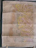 1876 Carte Toilée Montreuil Sur Mer Le Touquet Berck Merlimont Cucq Groffliers Favières Fort Mahon Verton Quend Rue - Topographical Maps
