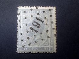 Belgie - Belgique 1865 - 1866 - N° 18 - 20c  - Obl. - Bureau  191 -  Ingelmunster - 1865-1866 Profilo Sinistro