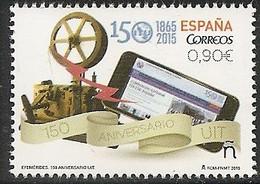 2015-ED. 5000 - Efémerides. 150 Aniv. De La Unión Internacional De Telecomunicaciones (UIT).- NUEVO - 2011-... Unused Stamps