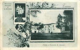 Cpa TEANO - Chiesa E Convento S Antonio, Mirasolosa Immagine - Cachet Franchise Postale 1917 SPARANIZE STAZIONE - Caserta