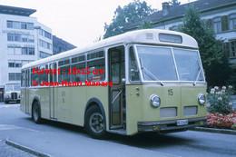 ReproductionPhotographie D'un Bus STI Ligne Allmendingen à Thun En Suisse En 1972 - Reproductions