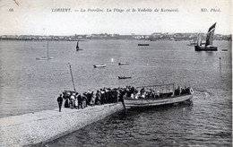 56  LORIENT  LA PERRIERE   PLAGE ET VEDETTE DE  KERNEVEL - Lorient