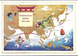 CPA-1965/1966-PUB-LA MOUTARDE AMORA-PROSPECTION AMORA 1965/1966-Japon/Somalis-TBE - Werbepostkarten