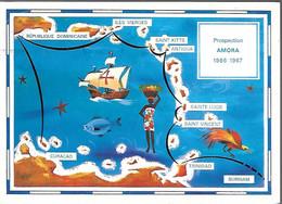CPA-1966/1967-PUB-LA MOUTARDE AMORA-PROSPECTION AMORA 1966/1967-Trinidad/Curacao-TBE - Werbepostkarten