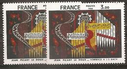 VARIETE  N 2107 ** - 1 TB PARTITION BLANCHE  ET NUANCE DU FOND BLEU NOIR OU VIOLET BLEU - RRR !!! - Varieties: 1980-89 Mint/hinged