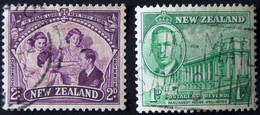 New Zealand - 1946 - Mi:NZ 283,285 Sn:NZ 248,250 Yt:NZ 273,275 O - Look Scan - Used Stamps