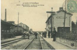 30*Gard*- Salindres - La Gare Et Les Usines De Produits Chimiques - Otros Municipios
