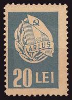 ROMANIA - CINDERELLA : 20 LEI / ARLUS [ ASOCIAŢIA ROMÂNĂ PENTRU STRÂNGEREA LEGĂTURILOR CU U.R.S.S. ] ~ 1945 (ah286) - Fiscaux