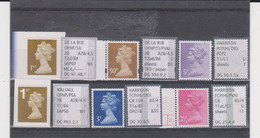 #41 GB Specialised Selection Of Machin Stamps - Machins