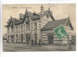 Nord CAMBRAI La Gare CANTIMPRE Animée 1909 - Cambrai