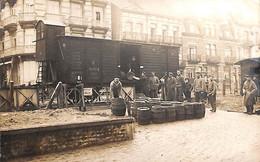 Heist Heyst - Carte Photo 1914-18 (Militaria Fûts Biervat Top Animation Gare) - Heist