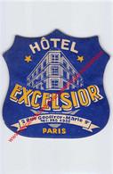 Paris - Hôtel Excelsior - Rue Geoffroy-Marie - Hotel Label - France - Adesivi Di Alberghi