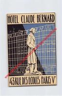 Paris - Hôtel Claude Bernard - Rue Des Ecoles - Hotel Label - France - Adesivi Di Alberghi