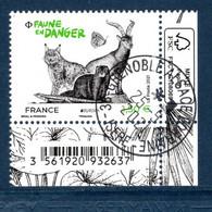 France 2021. De Mini Feuille Faune En Danger.cachet Rond . - Used Stamps