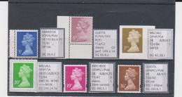 #53 GB Specialised Selection Of Machin Stamps - Machins
