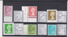 #54 GB Specialised Selection Of Machin Stamps - Série 'Machin'