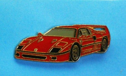 1 PIN'S  //   ** FERRARI F40 / VOITURE DE SPORT / SUPERCAR ** - Ferrari