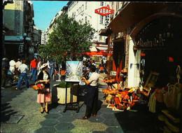 ►  CPSM Nice Rue Pietonne Peintre J L Carina 1970 Chevalet  Toile Peinture - Unclassified