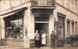 Heist Heyst - Carte Photo Epicerie Charcuterie Claeys (genomen In 1924) - Heist