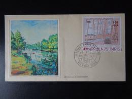 Saint Denis De La Réunion Timbre N° 426 Alfred Sisley, Enveloppe 1er Jour Du 18 Novembre 1974 - Cartas