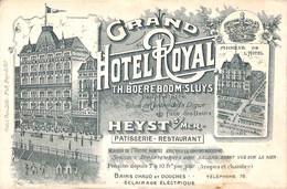 Heist Heyst - Grand  Hôtel Royal (Boereboom Sluys Pâtisserie Restaurant..Note) - Heist