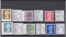 #73 GB Specialised Selection Of Machin Stamps - Machins