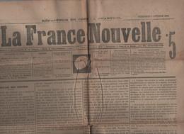 LA FRANCE NOUVELLE 06 10 1876 - TRAVAIL DES FEMMES - OUVRIER & RELIGION - SLAVES & POLONAIS - RUSSIE TURQUIE AUTRICHE - - 1850 - 1899