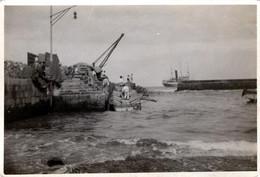 Photo Originale Bateau à Quai & Déchargement De Vivre à Tenerife Une île D'Espagne En 1928 - Port & Paquebot - Schiffe