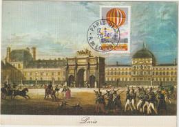 Carte-Maximum FRANCE N° Yvert 2262  (MONTGOLFIERE ) Obl Sp Rue Du Louvre (Ed Yvon - Le Louvre) RR - 1980-89