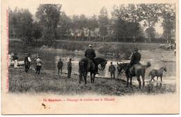 49-SAUMUR- PASSAGE DE RIVIERE SUR LE THOUET- LES CHEVAUX- ANIMEE - Saumur