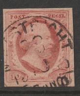 Nederland 1852  NVPH Nr. 2  Used  Stempel Maastricht  Mooi Gerand - Used Stamps