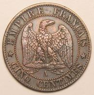 5 Centimes Napoléon III Tête Laurée, 1861 A (Paris), II° Empire - C. 5 Centimes