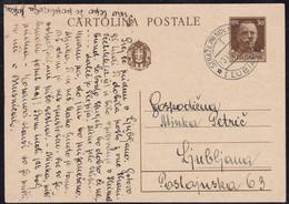 Straža Pri Novem Mestu (Lubiana), 30 Cent Postcard, Mailed 1941 - Lubiana