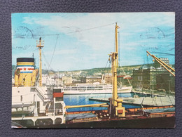 RIJEKA - CROATIA, Ship Port, Schiffshafen, Postcard Traveled 1962  (alb1) - Croazia
