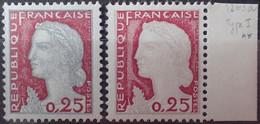 R1507/619 - 1960 - TYPE MARIANNE DE DECARIS - N°1263 + 1263a (I) BdF TIMBRES NEUFS** - Ongebruikt