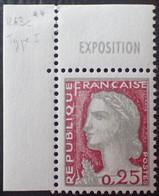 R1507/620 - 1960 - TYPE MARIANNE DE DECARIS - N°1263c (I) CdF NEUF** - Ongebruikt