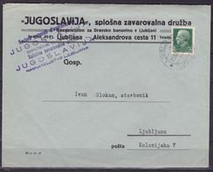 Ljubljana (Lubiana, 1 (4)) , Cover Franked 25 Cent., Mailed 1941 - Lubiana
