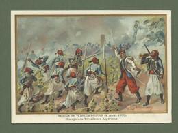 CHROMO GERMAIN  N°3 BATAILLE DE WISSEMBOURG AOUT 1870 - Otros