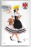 "Carte Brodée  "" NICE 2 "" Costume Régionaux De France - Borduurwerk"