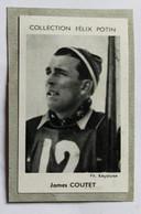 Image Carte Photo Ski Skieur James COUTTET écrit Coutet Collection Félix Potin Célébrités Contemporaines 1952 - Winter Sports