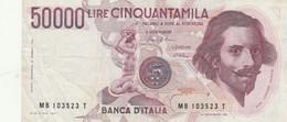 BANCONOTA ITALIA 50000 BERNINI VF (HP170 - 50000 Liras