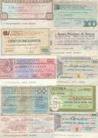 MINIASSEGNO LOTTO 10 MINIASSEGNI CIRCOLATI  (HP391 - [10] Cheques En Mini-cheques