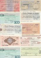 MINIASSEGNO LOTTO 10 MINIASSEGNI CIRCOLATI  (HP392 - [10] Cheques En Mini-cheques