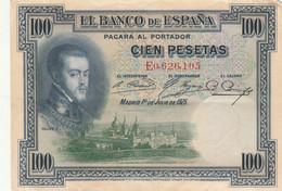 BANCONOTA SPAGNA 100 PESETAS 1925 VF (HP424 - 100 Pesetas