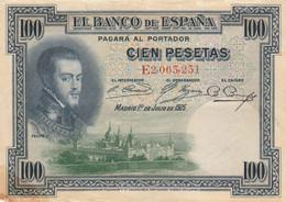 BANCONOTA SPAGNA 100 PESETAS 1925 VF (HP425 - 100 Pesetas