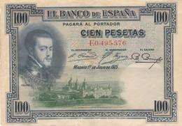 BANCONOTA SPAGNA 100 PESETAS 1925 VF (HP426 - 100 Pesetas